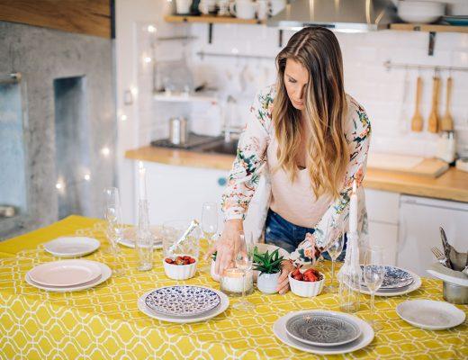 Abbinare tovaglia e piatti